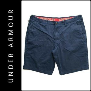 Under Armour Men Elastic Waist Flat Front Shorts